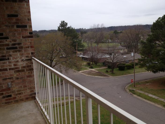 [Image: Each apartment has a private balcony with a beautiful view of the surrounding neighborhoods.]